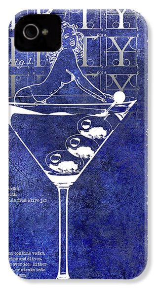 Dirty Dirty Martini Patent Blue IPhone 4s Case by Jon Neidert