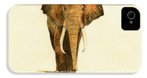 Elephant Watercolor IPhone 4s Case by Juan  Bosco