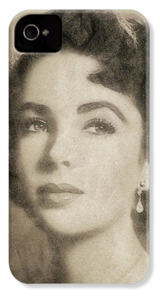 Elizabeth Taylor, Vintage Hollywood Legend By John Springfield IPhone 4s Case by John Springfield