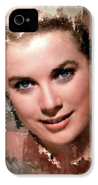 Grace Kelly, Vintage Hollywood Actress IPhone 4s Case by Mary Bassett