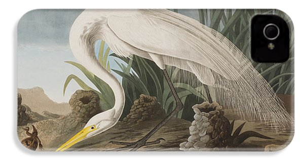 Great Egret IPhone 4s Case by John James Audubon