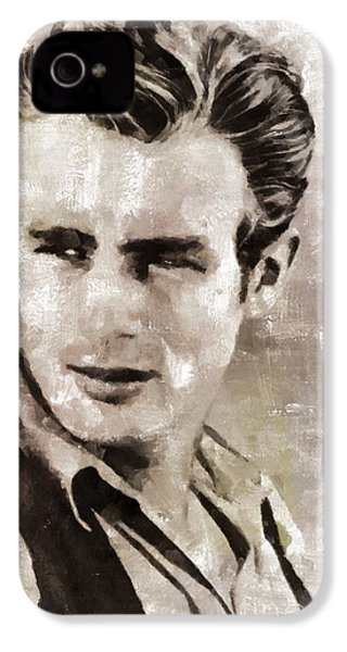 James Dean Hollywood Legend IPhone 4s Case by Mary Bassett