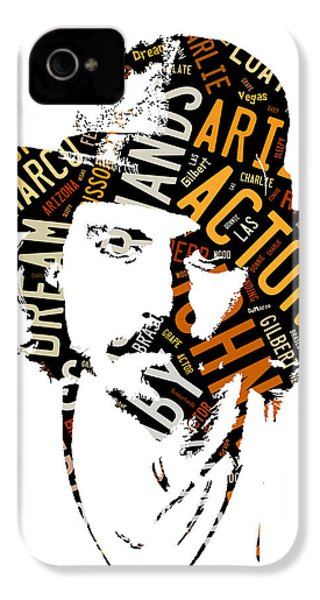 Johnny Depp Movie Titles IPhone 4s Case