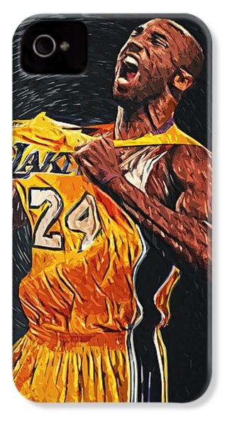 Kobe Bryant IPhone 4s Case by Taylan Apukovska