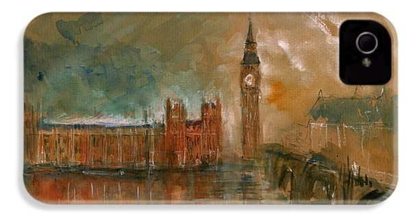 London Watercolor Painting IPhone 4s Case