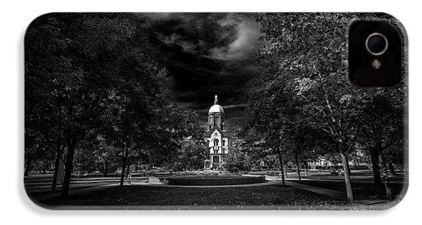Notre Dame University Black White IPhone 4s Case by David Haskett