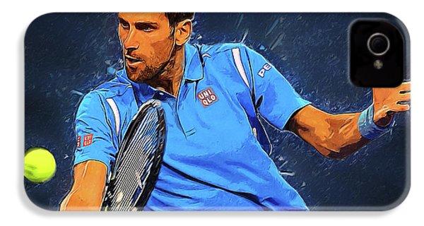 Novak Djokovic IPhone 4s Case by Semih Yurdabak