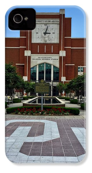 Oklahoma Memorial Stadium IPhone 4s Case by Center For Teaching Excellence