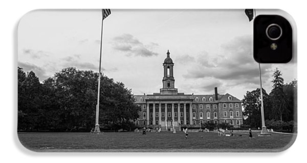 Old Main Penn State Black And White  IPhone 4s Case by John McGraw