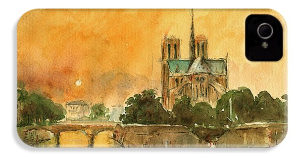Paris Notre Dame IPhone 4s Case by Juan  Bosco