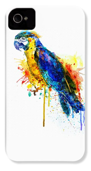Parrot Watercolor  IPhone 4s Case by Marian Voicu