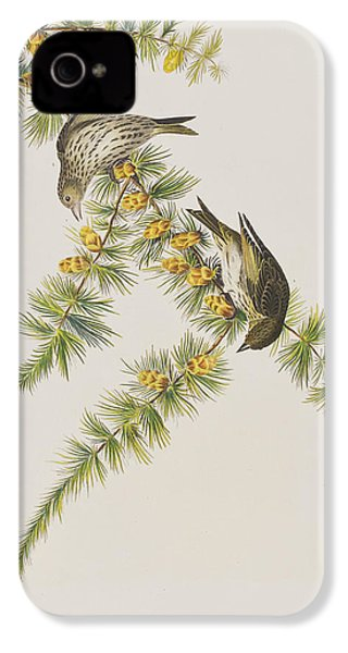 Pine Finch IPhone 4s Case by John James Audubon