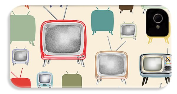 retro TV pattern  IPhone 4s Case by Setsiri Silapasuwanchai