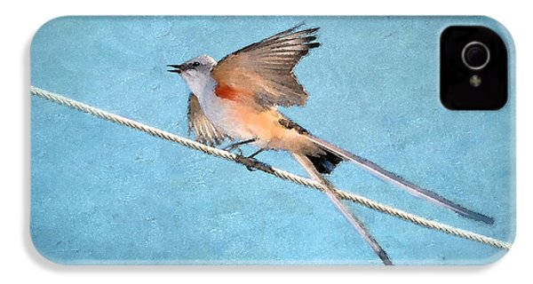 Scissor-tailed Flycatcher IPhone 4s Case by Betty LaRue