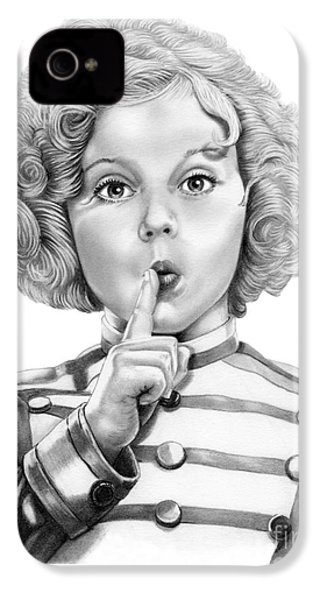 Shirley Temple IPhone 4s Case by Murphy Elliott
