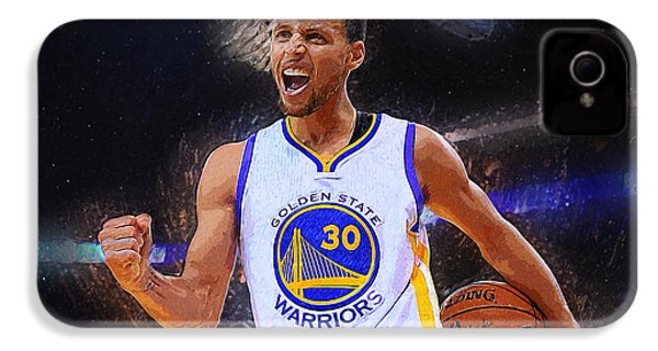 Stephen Curry IPhone 4s Case by Semih Yurdabak
