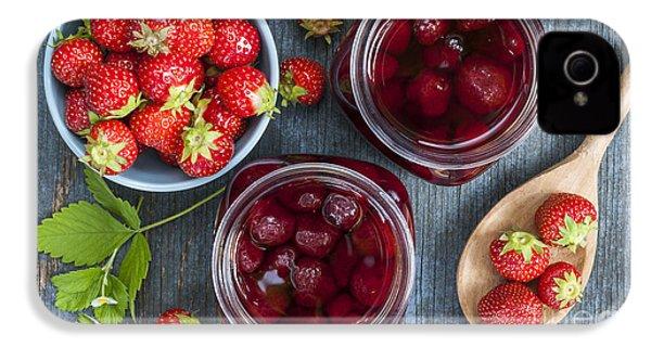 Strawberry Preserve IPhone 4s Case by Elena Elisseeva