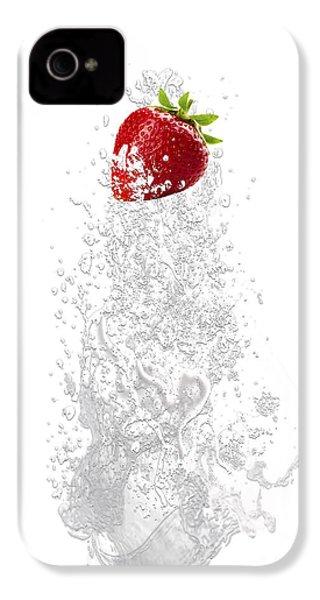 Strawberry Splash IPhone 4s Case by Marvin Blaine