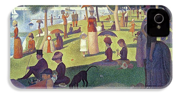 Sunday Afternoon On The Island Of La Grande Jatte IPhone 4s Case by Georges Pierre Seurat