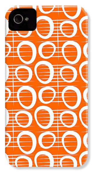 Tangerine Loop IPhone 4s Case by Linda Woods