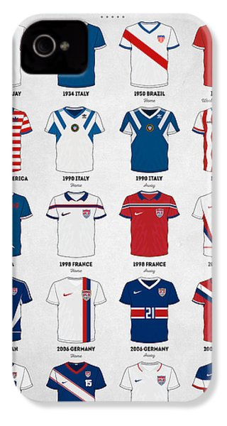 The Evolution Of The Us World Cup Soccer Jersey IPhone 4s Case by Taylan Apukovska