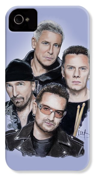 U2 IPhone 4s Case by Melanie D