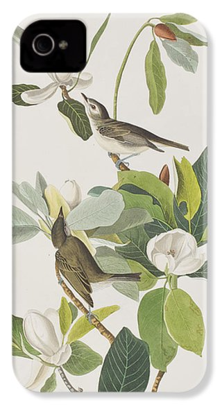 Warbling Flycatcher IPhone 4s Case by John James Audubon