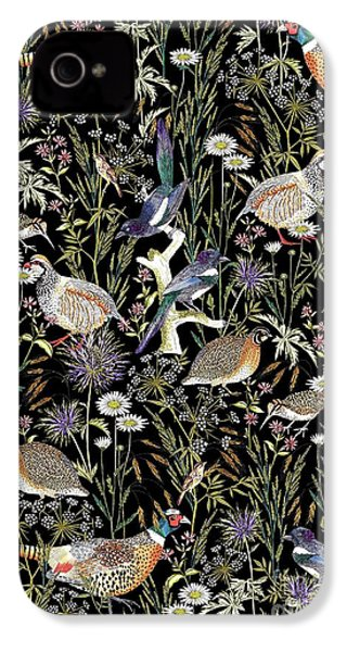 Woodland Edge Birds IPhone 4s Case by Jacqueline Colley