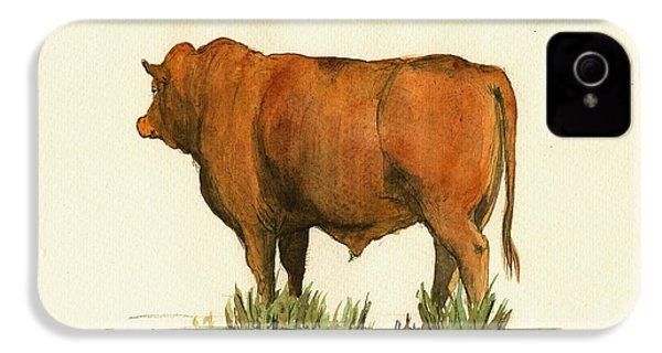 Zebu Cattle Art Painting IPhone 4s Case