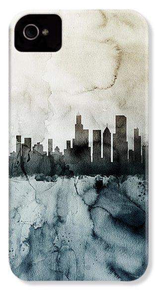Chicago Illinois Skyline IPhone 4s Case by Michael Tompsett