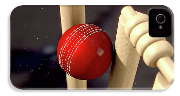 Cricket Ball Hitting Wickets IPhone 4s Case