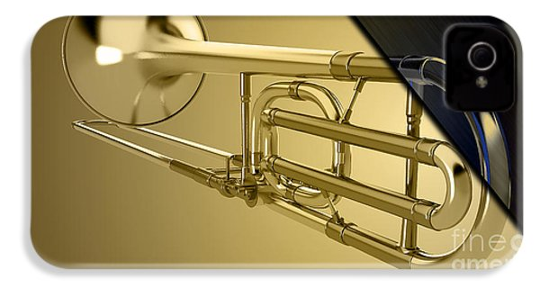 Trombone Collection IPhone 4s Case by Marvin Blaine