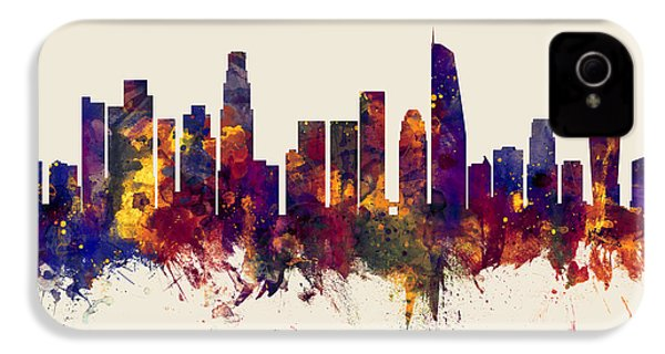 Los Angeles California Skyline IPhone 4s Case by Michael Tompsett