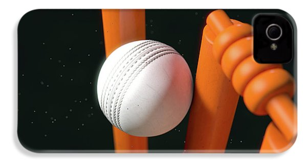 Cricket Ball Hitting Wickets IPhone 4s Case by Allan Swart