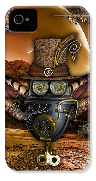 Steampunk Art IPhone 4s Case by Marvin Blaine