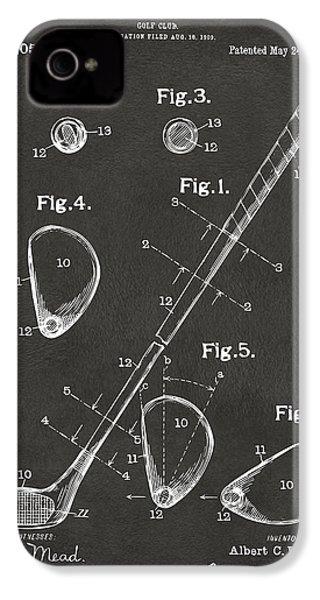 1910 Golf Club Patent Artwork - Gray IPhone 4s Case