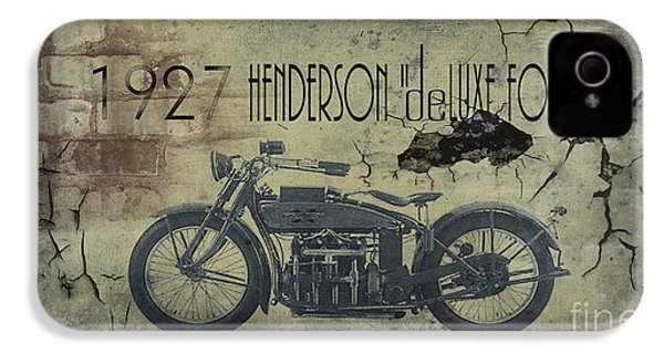 1927 Henderson Vintage Motorcycle IPhone 4s Case by Cinema Photography