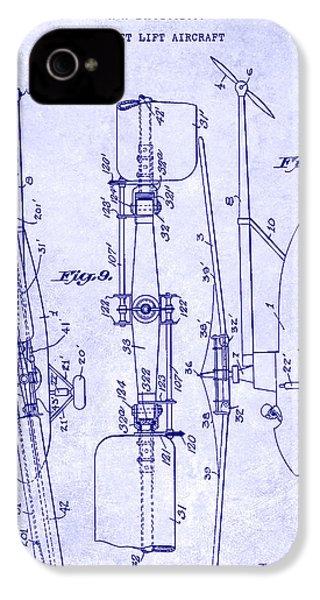1935 Helicopter Patent Blueprint IPhone 4s Case by Jon Neidert