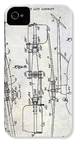1935 Helicopter Patent  IPhone 4s Case by Jon Neidert