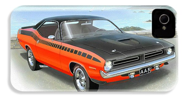 1970 Barracuda Aar  Cuda Classic Muscle Car IPhone 4s Case by John Samsen