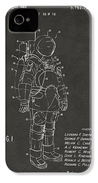 1973 Space Suit Patent Inventors Artwork - Gray IPhone 4s Case by Nikki Marie Smith