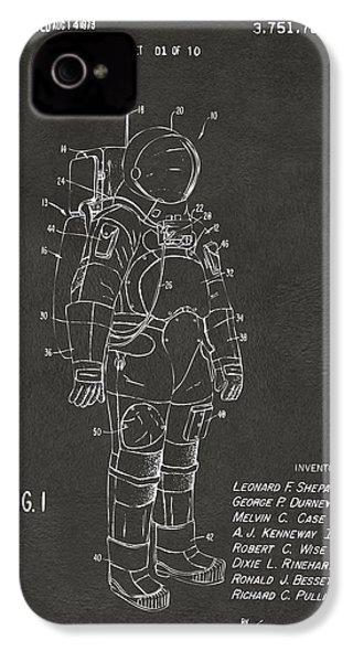 1973 Space Suit Patent Inventors Artwork - Gray IPhone 4s Case