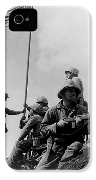 1st Flag Raising On Iwo Jima  IPhone 4s Case by War Is Hell Store