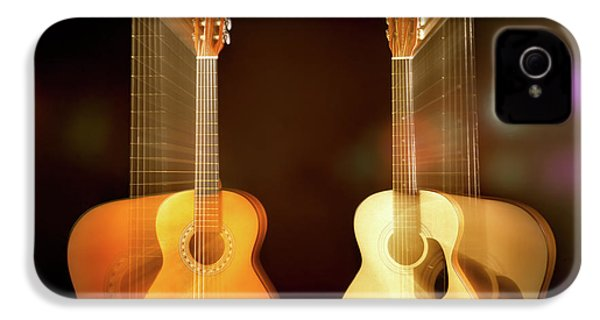Acoustic Overtone IPhone 4s Case by Leland D Howard