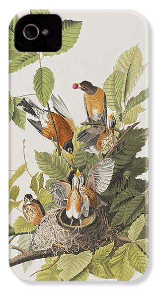 American Robin IPhone 4s Case by John James Audubon
