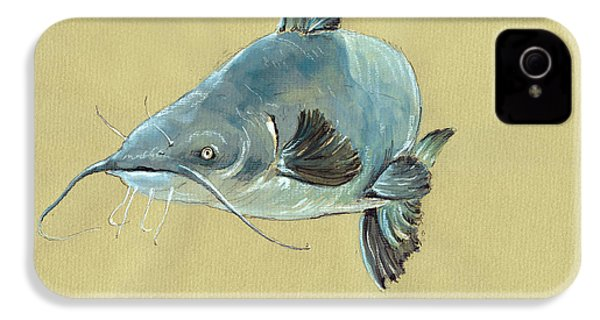 Channel Catfish Fish Animal Watercolor Painting IPhone 4s Case
