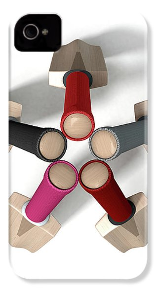 Cricket Bat Circle IPhone 4s Case