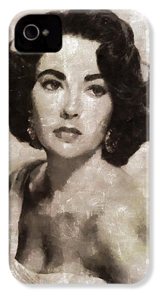 Elizabeth Taylor, Vintage Hollywood Legend By Mary Bassett IPhone 4s Case by Mary Bassett