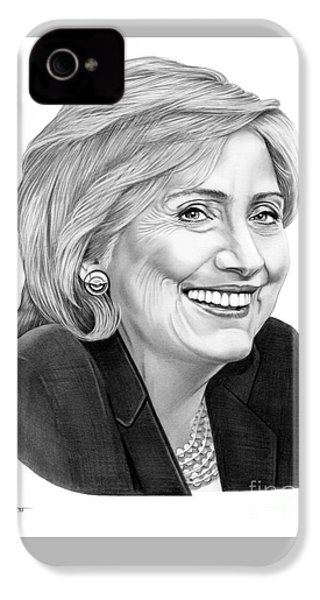 Hillary Clinton IPhone 4s Case by Murphy Elliott