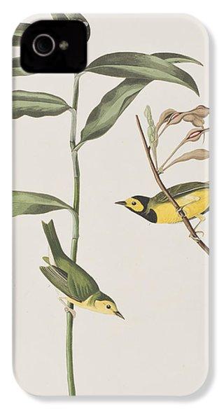 Hooded Warbler  IPhone 4s Case by John James Audubon
